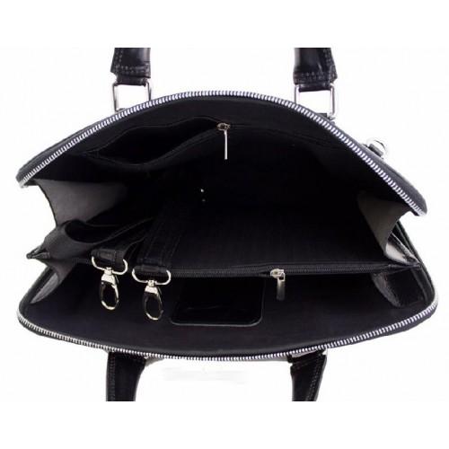 3abeb9aa9973 Женская кожаная сумка-портфель Bottega Carele BC801 black